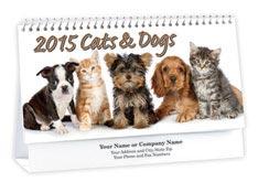 Cats & Dogs Desk Calendar
