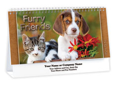 Cats and Dogs Desk Calendar