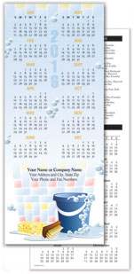 Cleaning Bubbles Economy Calendar