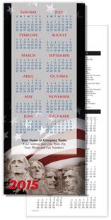 Patriotic Vertical Economy Calendar