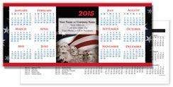Patriotic Horizontal Economy Calendar