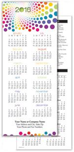 Rainbow Dots Economy Calendar