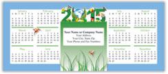 Green Horizontal Economy Calendar