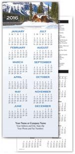 Scenic Cabin Economy Calendar