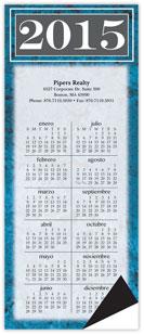 Spanish Marble Magnetic Economy Calendar