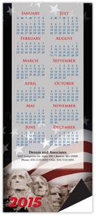 Patriotic Vertical Magnetic Economy Calendar