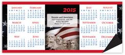 Patriotic Horizontal Magnetic Economy Calendar