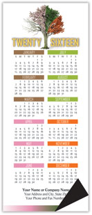 Four Season Tree Magnetic Economy Calendar