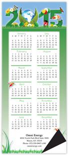 Green Vertical Magnetic Economy Calendar
