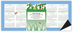 Green Horizontal Magnetic Economy Calendar