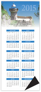 Lighthouses Magnetic Economy Calendar