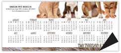 Cats & Dogs Horizontal Magnetic Economy Calendar