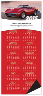 Muscle Car Magnetic Economy Calendar