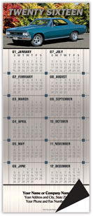 Muscle Car Chevy Magnetic Economy Calendar