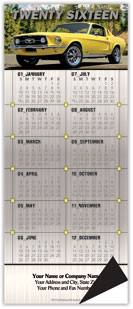 Muscle Car Ford Magnetic Economy Calendar