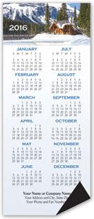 Scenic Cabin Magnetic Economy Calendar