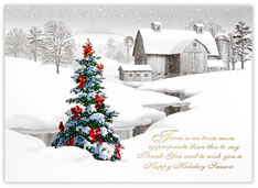 A Rural Christmas Card