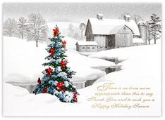 A Rural Christmas Card