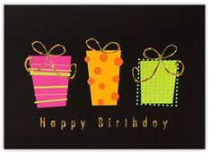 Modern Gifts Birthday Card
