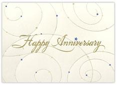 Script Anniversary Card