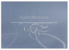 Scripty Metallic Birthday