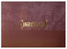 Gilded Congratulations Card