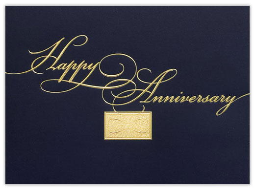 Golden Elegance Anniversary Card - Anniversary Cards from CardsDirect