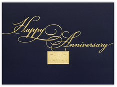 Golden Elegance Anniversary Card