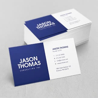 Business cards with many options to customize.
