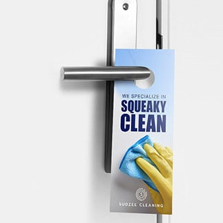 Door hangers for outdoor marketing.