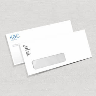 Business envelopes with windowed and full color options.