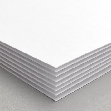 A stack of our 110 lb. Uncoated Matte paper