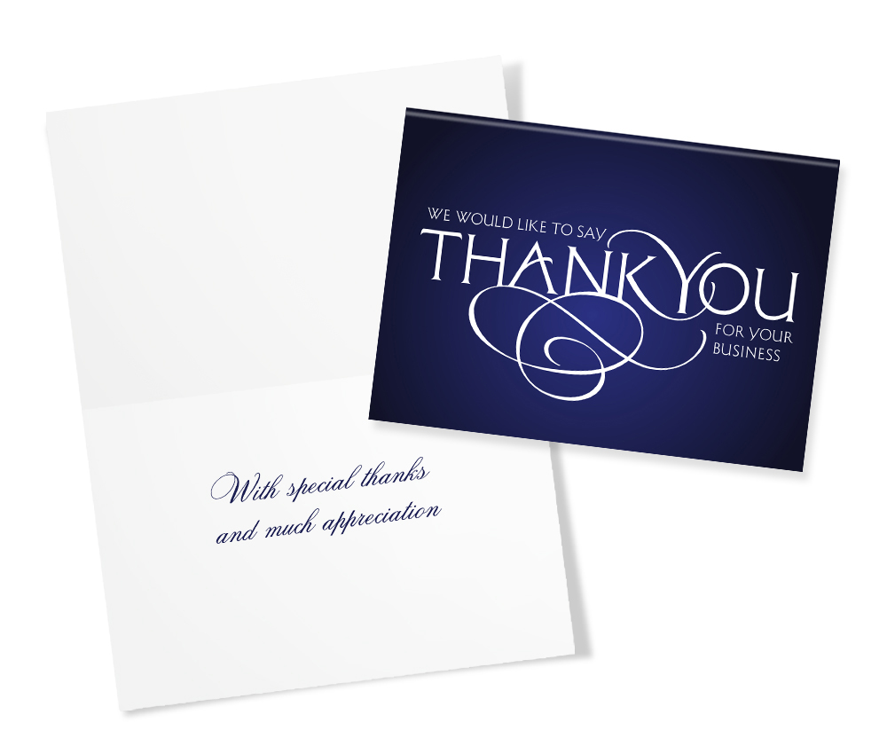 30 assorted thank you greeting cards for business business thank you scroll reheart Gallery