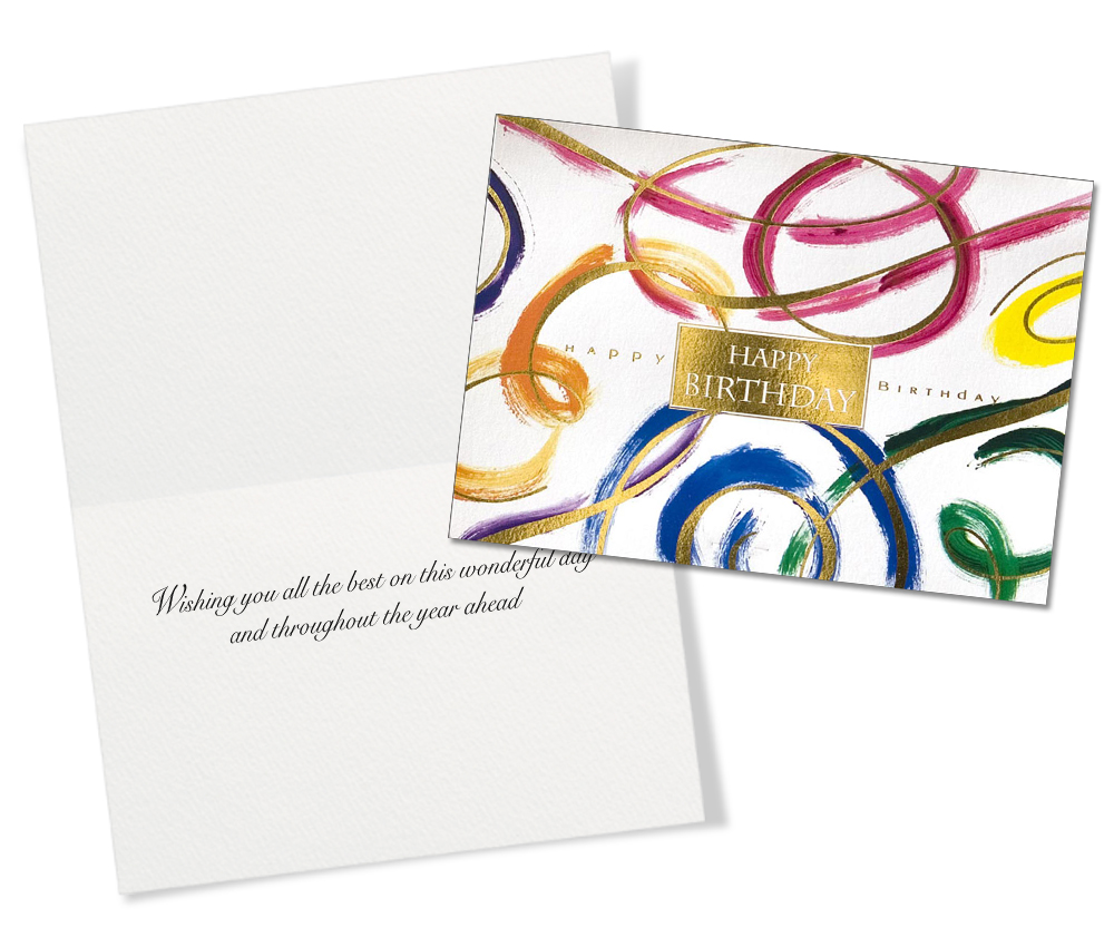 50 Assorted Birthday Greeting Cards With Classic Designs
