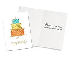 Stacked Birthday Cake Card