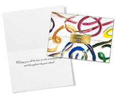Birthday Swirls Birthday Card