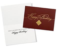 Gold Filigree Birthday Card