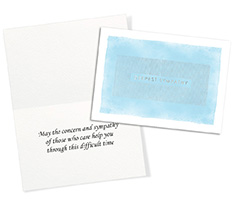 Silver Stripes Sympathy Card