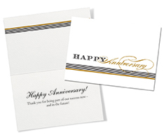 Black and Gold Anniversary Card