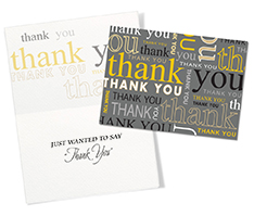 Repeating Thank You Card