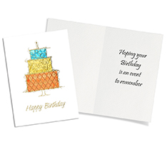 Stacked Birthday Cake Card