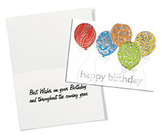 Silver Patterns Birthday Card