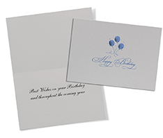 Blue Balloons Birthday Card