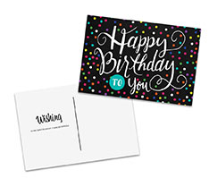 Dotted Birthday Postcard