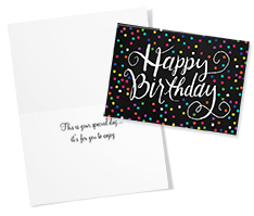 Colored Birthday Dots Card