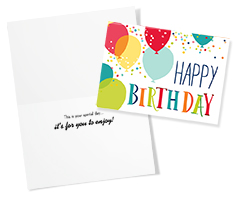 Birthday Color Rush Card