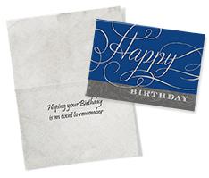 Formal Wishes Birthday Card