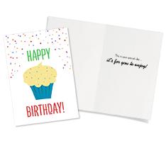 Cupcake Sprinkles Card