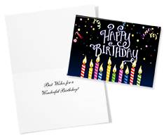 Striped Candles Birthday Card