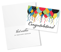 Patterned Balloon Congratulations Card
